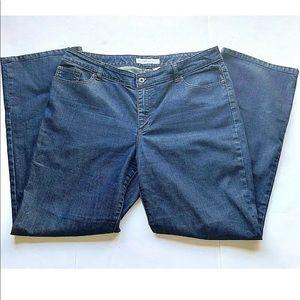 Chicos Platnium Denim Jeans Womens 3 Dark Blue